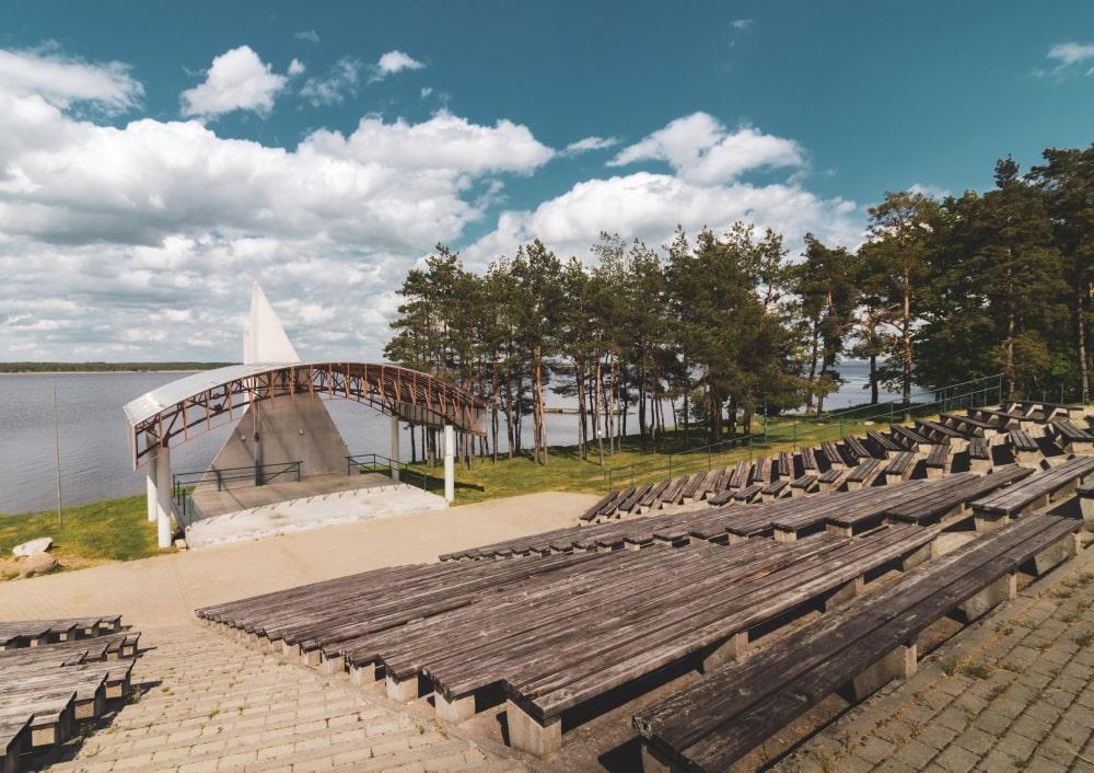amfiteatr zalew siemianówka stary dwór plaża